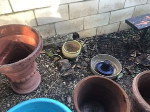 Flower Pots (24 pots. Large, medium, small) for Sale in Cibolo, TX