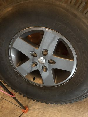 Jeep jk gunmetal rims for Sale in Berwyn, IL
