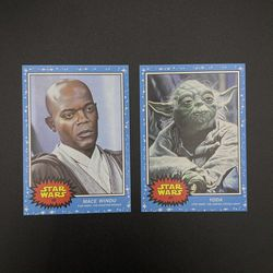 2021 Topps Star Wars Living Set® 2-Card Bundle # 167 & 168 YODA - MACE WINDU for Sale in Peoria,  IL