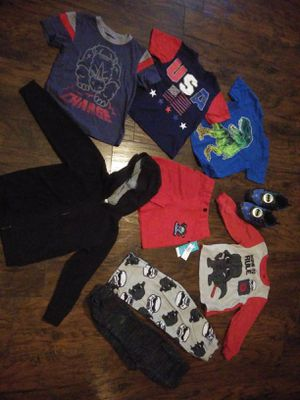 Lot of boys 4t clothes shoes for Sale in Leon, WV