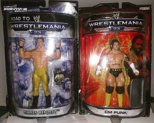 WWE Rare Collectible WM 23 Action Figures - Chris Benoit/CM Punk for Sale in Orlando, FL