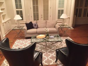 Like new Glass iron coffee table and 2 end tables for Sale in Atlanta, GA