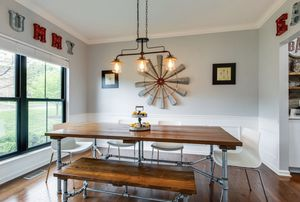 Farmhouse Dining Table with Bench and chairs for Sale in Franklin, TN