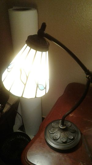 Really pretty stained glass desk reading lamp for Sale in Glendale, AZ