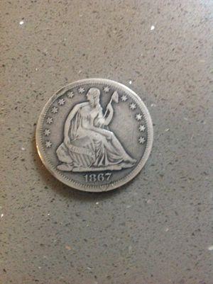 NICE 1867 LIBERTY SILVER HALF-DOLLAR. for Sale in Ramona, CA