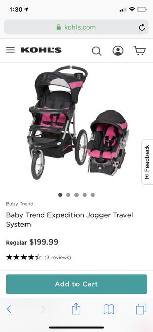 Baby expedition jogger for Sale in Arlington, VA