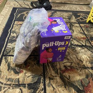 Pull ups diapers and pampers club3T-4T 32- 40 lbs. 15- 18 kg for Sale in Decatur, GA