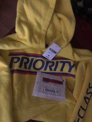 Men's hoodie size medium PRIORITY first class for Sale in Newark, NJ