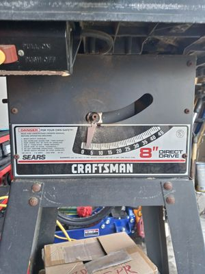 Craftsman Direct drive Table saw for Sale in Arlington, TX
