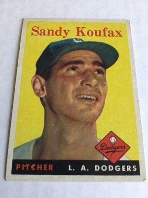Sandy Koufax 1958 Topps baseball card! for Sale in Visalia, CA