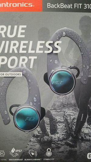 Plantronics Backbeat FIT 3100 Bluetooth Wireless Earbud True Earphones with Mic - grey for Sale in PA, US