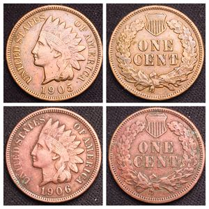1905 and 1906 Indian Head Cents - Nicer Detail - See Pictures for Sale in Geneva, IL