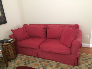 ROWE brand slipcover couch, chair and ottoman for Sale in Alexandria, VA