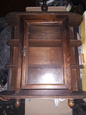 Old antique wall hanging jewelry cabinet for Sale in Picayune, MS