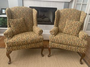 2 Wingback Chairs by Isenhour Furniture for Sale in Littleton, CO