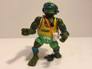 1992 Lifeguard Leo - TMNT Teenage Mutant Ninja Turtles - Vintage Action Figure Toy Playmates for Sale in Naperville, IL