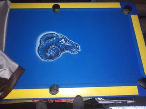 RAMS COSTUME POOL TABLE FOR ALL THE FANS!! for Sale in Downey, CA