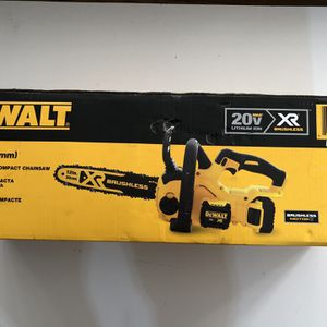 DEWALT 12 in. 20V MAX Lithium-Ion Cordless Brushless Chainsaw with (1) 5.0Ah Battery and Charger Included for Sale in Garden Grove, CA