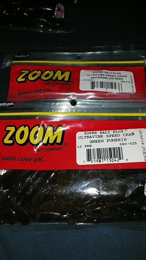 ZOOM speed craw fishing lure for Sale in Greenwood, IN