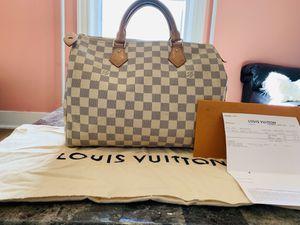100% AUTHENTIC Louis Vuitton Speedy 30 Damier Azur for Sale in Hartford, CT