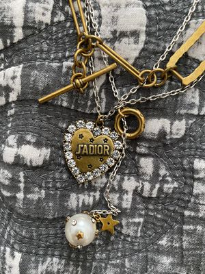 Jadior dior heart necklace multilayer authentic for Sale in Forest Heights, MD