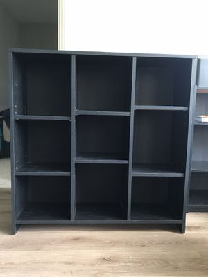 Black Wooden Shelf With Adjustable Shelves for Sale in Philadelphia, PA