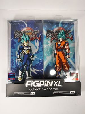 FIGPIN XL DRAGON BALL FIGHTER Z SSGSS GOKU VEGETA X18 X19 SDCC IN HAND NOW super. Condition is New. Shipped with USPS Priority Mail. for Sale in Henrico, VA