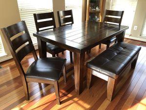Ashley Furniture Leather Dinette Set for Sale in Alexandria, VA