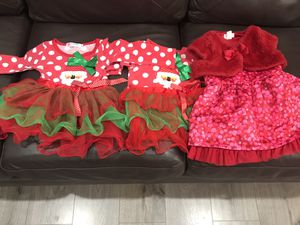 Baby girl Christmas holiday dress size 6-12m for Sale in La Puente, CA