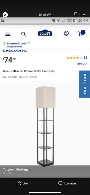 Shelf floor lamp for Sale in Bakersfield, CA