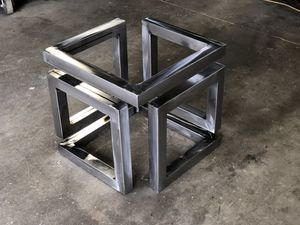 Custom modern coffee table height infinity table base for Sale in Payson, AZ