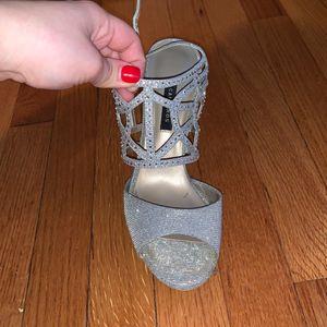Caparros Silver Heels for Sale in Portland, CT