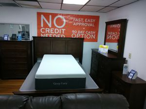 Sherry queen bed,dresser,mirror,1 nightstand add the chest for $249,sameday delivery,no credit check. for Sale in Tampa, FL