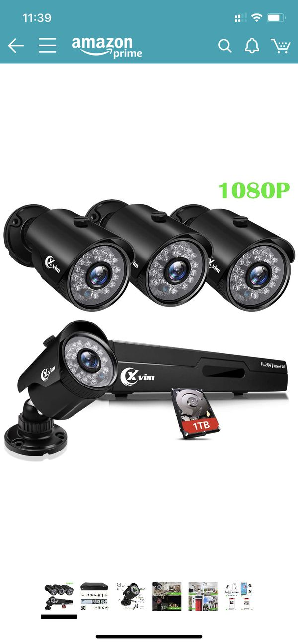 security camera system 1080p 4pcs cameras