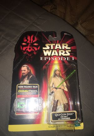 Qui-Gon Jinn action figure Star Wars Episode 1 with Comm Tech chip collection 1 1998 for Sale in Rio Vista, CA