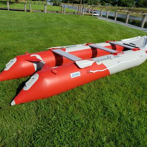 BEST DEAL! REDUCED!, FINAL SALE! Two NEW BRIS Inflatable Boats, motor & row & kayak, 12ft. & 14ft7 for Sale in Fort Lauderdale, FL
