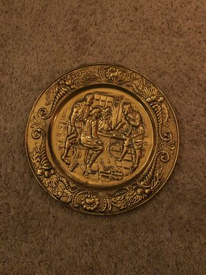 Fully Decorated Gold Confederate Wall Plate for Sale in Woodbridge, VA