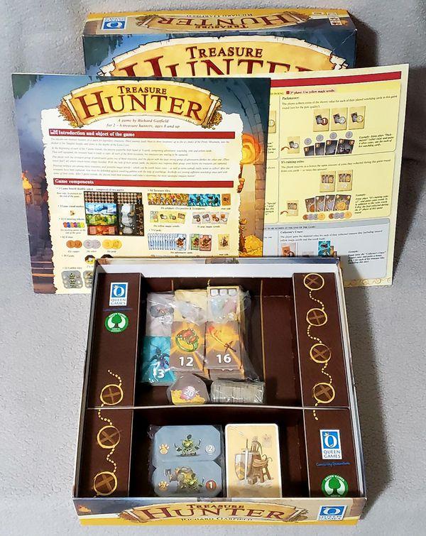 Treasure Hunter Board Game by Richard Garfield Queen Games NEW Open Box