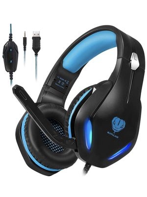 Gaming Headset for PC, PS4, Xbox One, Laptop, Crystal Clear Sound Computer Gamer Headset with Noise Canceling Mic and LED Light - Lightweight Comfort for Sale in Eastvale, CA