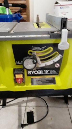 """RYOBI 10"""" TABLE SAW WITH STEEL STAND 15 AMP. for Sale in Miramar, FL"""