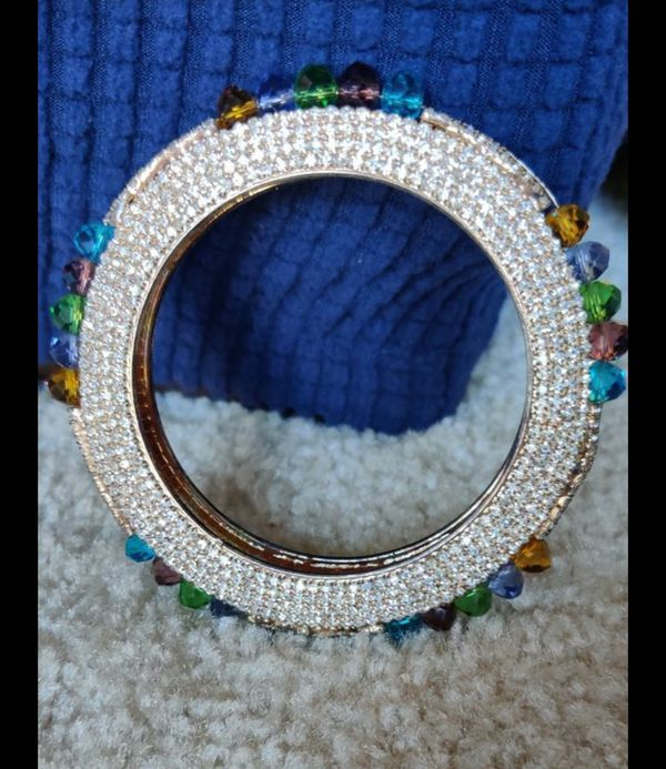 Full stones bangle multi color Crystal and stone bangle ......