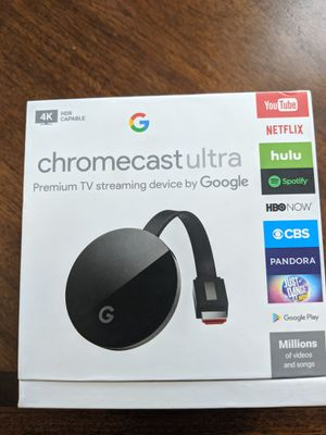 Chromecast Ultra 4k Streamer for Sale in Delhi, CA