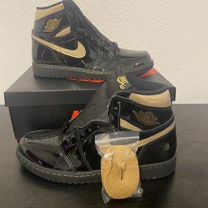 "Air Jordan 1 ""Black & Gold"" 4y Women's Size 5.5 for Sale in San Antonio, TX"
