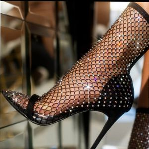 Just In! BLING OUT NET BOOTIE Heel for Sale in Ontario, CA