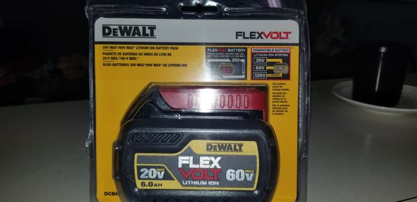 Flexvolt dewalt battery 60v 6.0ah