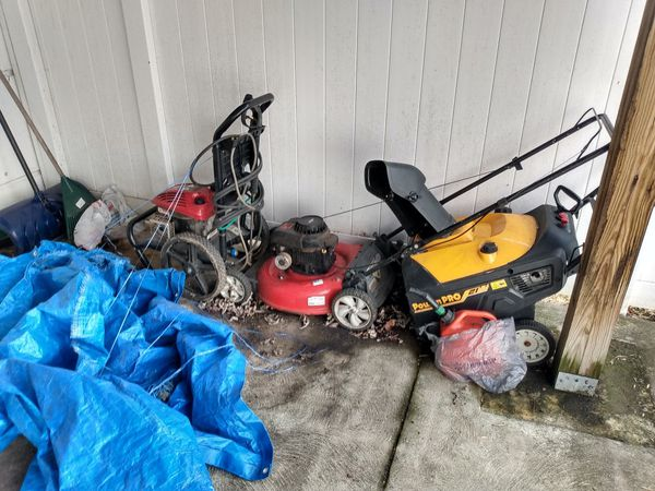 Power washer lawn mover snow blower