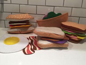 Pita & sandwich sets - fabric play food for Sale in Alexandria, VA