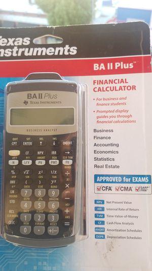 Texas Instruments BA II plus for Sale in Fullerton, CA