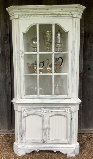"""""""Shabby Chic"""" Vintage Corner Cabinet for Sale in Hillsboro, OR"""