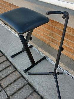 Guitar Stand And Stool Great Condition for Sale in West Chicago,  IL
